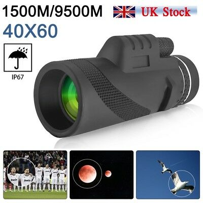 Diconna 40X60 Day&Night Vision Dual Focus HD Optics Zoom Monocular Telescope New