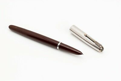 PARKER 51 VACUMATIC Fountain Pen BURGUNDY w/ NEW DIAPHRAGM  [FULLY RESTORED]