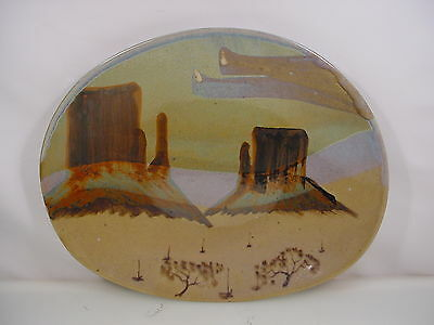 Monument Valley Pottery Beautiful Large Pottery Platter Signed D. Balk 91'
