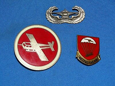 WWII Artillery Glider Airborne Group, Wings, DUI & Cap Badge