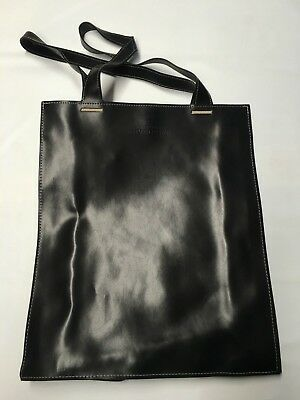 e0e92b6751a6 GIVENCHY PARFUMS BLACK Faux Leather Drawstring Tassel Sides Tote ...