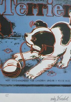 Andy Warhol Mechanical Terrier Blue Signed & Hand Numbered Lithograph