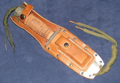 US Vietnam War Jet Pilot's Survival Knife Dated 1973 Ontario with Scabbard