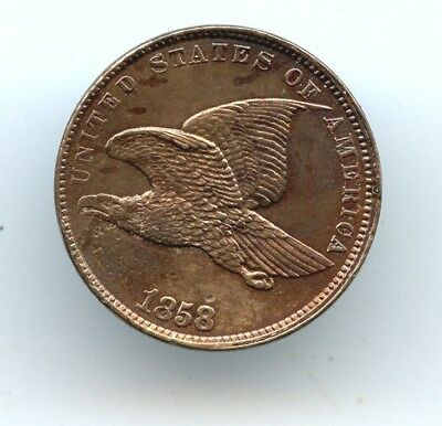 1858 Small Letters Flying Eagle Cent UNC details!! LOOK!!! READ!!