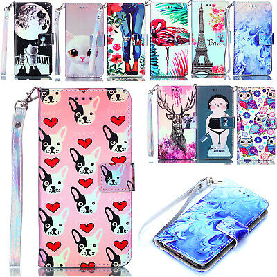 Wallet Case For iPhone 7 8 Women Men Magnetic Flip PU Leather Stand Phone Cover