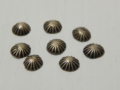 Lot Of 8 Old Pawn Vintage Navajo Indian Sterling Silver / Coin Conchos Buttons