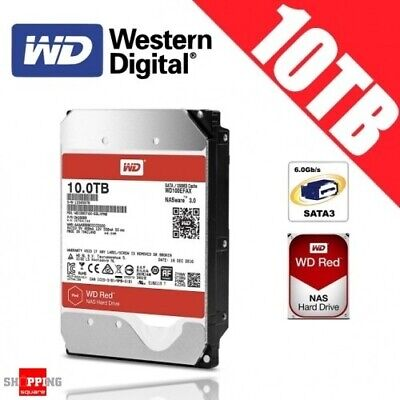 Western Digital WD Red NAS 10TB 3.5-inch Hard Drive Disk Network Attached Storag