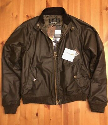 Steve McQueen Merchant Jacket, Barbour International, olive waxed cotton size XL