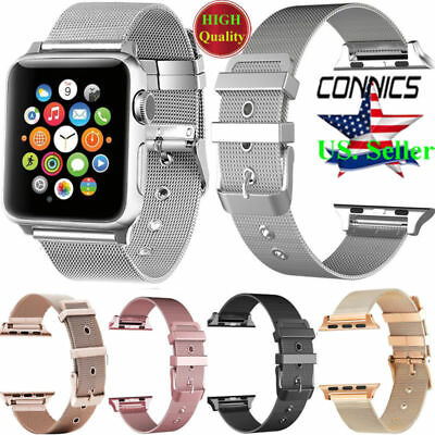 For Apple Watch Series 5 4 3 40mm 44mm 38/42mm Stainless Steel iWatch Band Strap