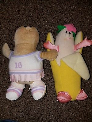 "Lot of 2 VINTAGE-10"" 1985 Avon Somersaults Pals plush Zippy and Tabina"