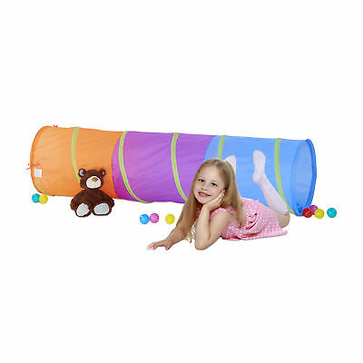 Play Tunnel for Children Long Crawling Play Tunnel Play Tent Neon