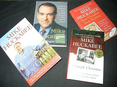MIKE HUCKABEE LOT of 4 Signed Autograph Books Former Governor of Arkansas