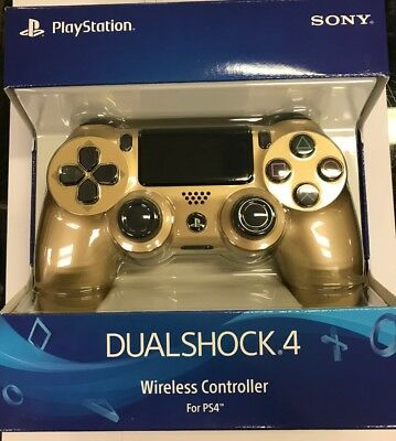 original Sony PlayStation 4 DualShock 4 Controller, Gold, 3001818 NEW SEALED