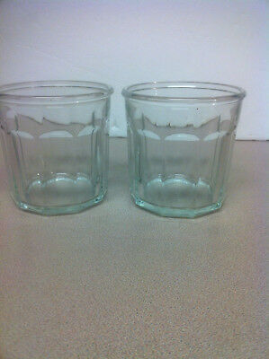 2 Luminarc Arcoroc France 500 Working Collection Clear Glass Tumblers 10 Panel