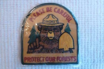 Smokey The Bear Jacket Patch Protect Our Forests Mint Twill New