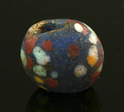 Ancient glass beads: Hellenistic crumb bead,3-1 century BC