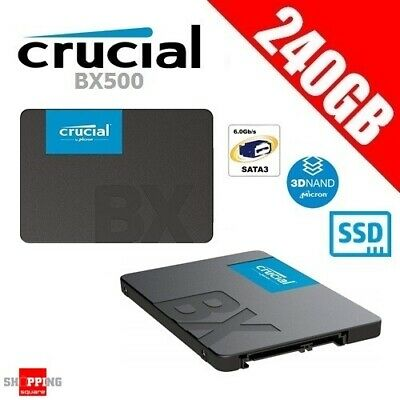 "Crucial BX500 240GB 3D NAND SATA 2.5"" SSD Solid State Drive SATA III 540MB/s"