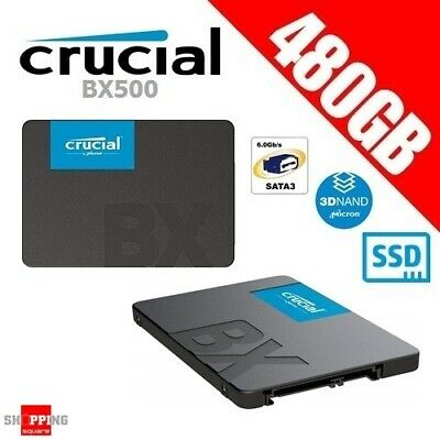 """Crucial BX500 480GB 3D NAND SATA 2.5"""" SSD Solid State Drive 540MB/s"""