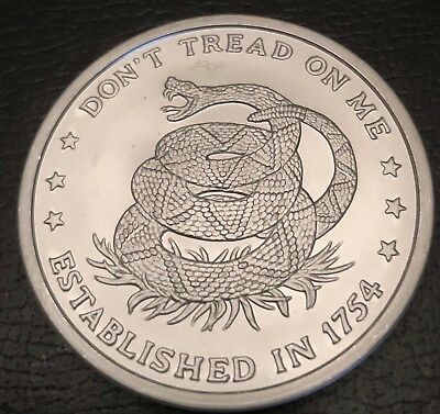 Don't Tread On Me - Eternal Vigilance 2 Oz Silver Round .999 Bu