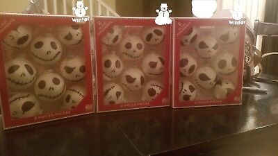 24 regular size Jack Skellington ornaments 8 per box Nightmare Before Christmas