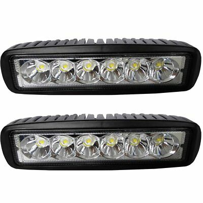 18W 1080LM Bright Light Spot 6 LED Work Bar Driving Fog Offroad Car Lamp Truck
