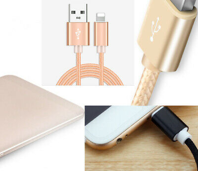 Nylon 2A braided wire Data Sync USB Charger Charging Cable Cord For iphone 7 8 X