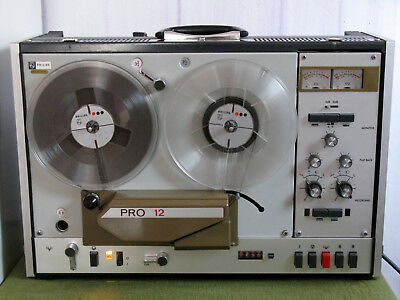 Philips PRO-12 registratore a bobine professionale Portable Studio Tape Recorder