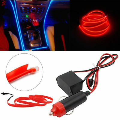 4X Auto Kein LED EL Ambientebeleuchtung Innenraumbeleuchtung 1M  Rot
