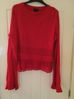 Topshop Red Maternity Jumper Size 12