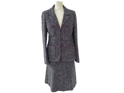 4933bb312516 Neuf Tailleur Chanel Veste   Jupe P21534 T38 M En Tweed Noir Jacket Skirt  6500€