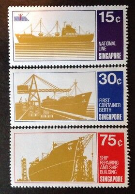 Singapore 1970 Shipping Set Of 3 Stamps Mint Mnh
