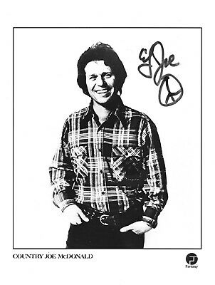 COUNTRY JOE McDONALD  Autogramm original signiert Foto 20x25