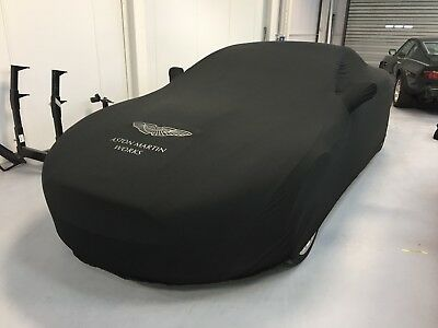 Aston Martin Works Soft Stretch Car Cover in Black with Silver Wings Logo