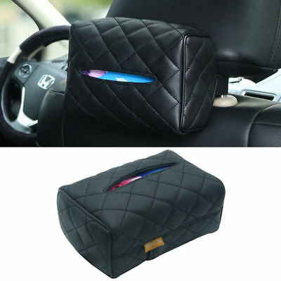Leather Tissue Box Cover Pumping Paper Hotel Car Home Napkin Holder Case