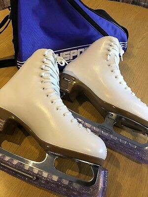 Risport Etoile Ice Skates Boots Size 6 New With Bag And Blade Covers