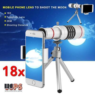 18X Zoom Universal Telephoto Telescope HD Camera Lens Tripod Kit for Cell Phone