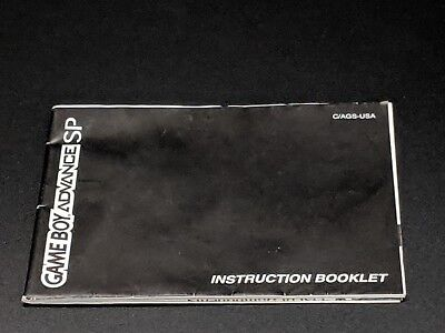 Game Boy Advance SP System Instruction Manual Booklet Nintendo EXMT condition