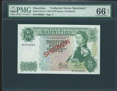 Nd (1978) Mauritius 25 Rupees Specimen  S/n *000620 Pick# 32Cs1 Please Lqqk!!*
