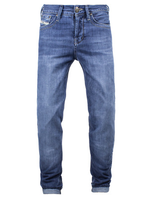 JOHN DOE XTM-fibre REGULAR JEANS / LIGHT BLUE USED BIKER HARLEY HALF PRICE SALE