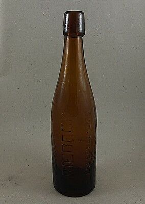 Antik alte Bierflasche Riebeck antique beer bottle