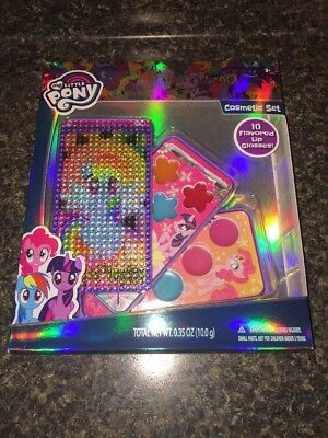 My Little Pony Cosmetic Set Case w/ 10 Lip Glosses Kid's Make-Up Kit New