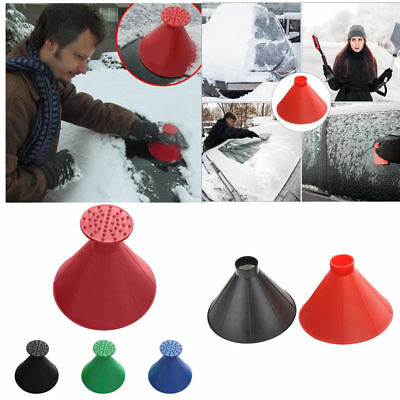 Magic Round Cone Ice Scraper Car Windshield Snow Remove Scraper Funnel Scraper
