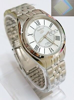 SEIKO 5 SNKL29 Stainless Steel Band Automatic Men's Silver Watch SNKL29K1 + Gift