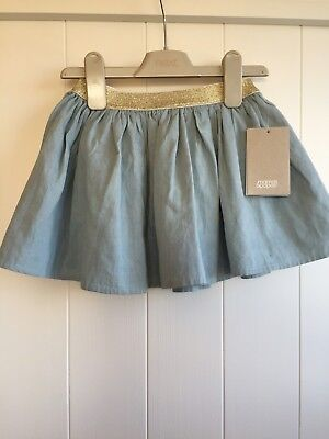Bnwt Mamas And Papas 18-24 Party Skirt Gold Blue