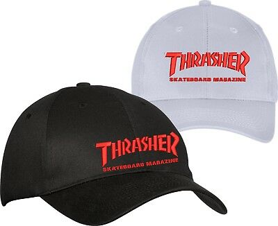 9166a60c712 Thrasher Logo Embroidered Hat Custom Skateboarding Magazine Skate Gear