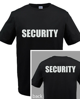 SECURITY T-SHIRT Event Bouncer Staff  Guard Police Shirt Tee ANY COLOR - S-5XL