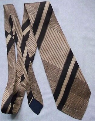 Vintage Tie MENS Wide Necktie RETRO SILK