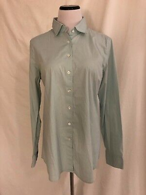 9dbd779245d1 J. Crew Womens Slim Stretch Shirt Size XL Tall TXL Solid Pale Green Button  Down