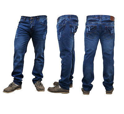 Men's Slim Fit Straight Leg Denim New Casual Work Stylish Jeans Pants Trousers
