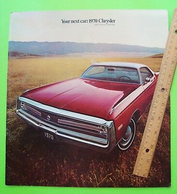 1970 CHRYSLER HUGE PRESTIGE CATALOG Brochure 36-pgs NEW YORKER 300 CONVT Newport